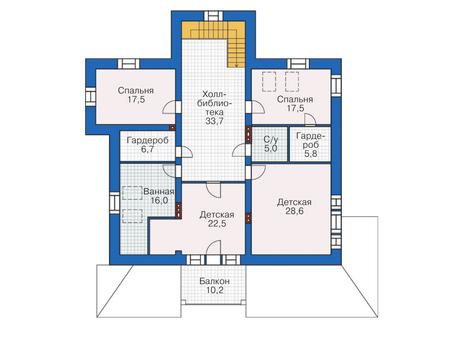 Проект кирпичного дома 38-61 план