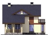 Проект кирпичного дома 38-65 фасад