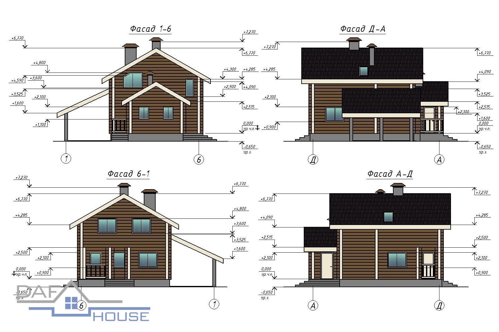 Проект В1852 фасад