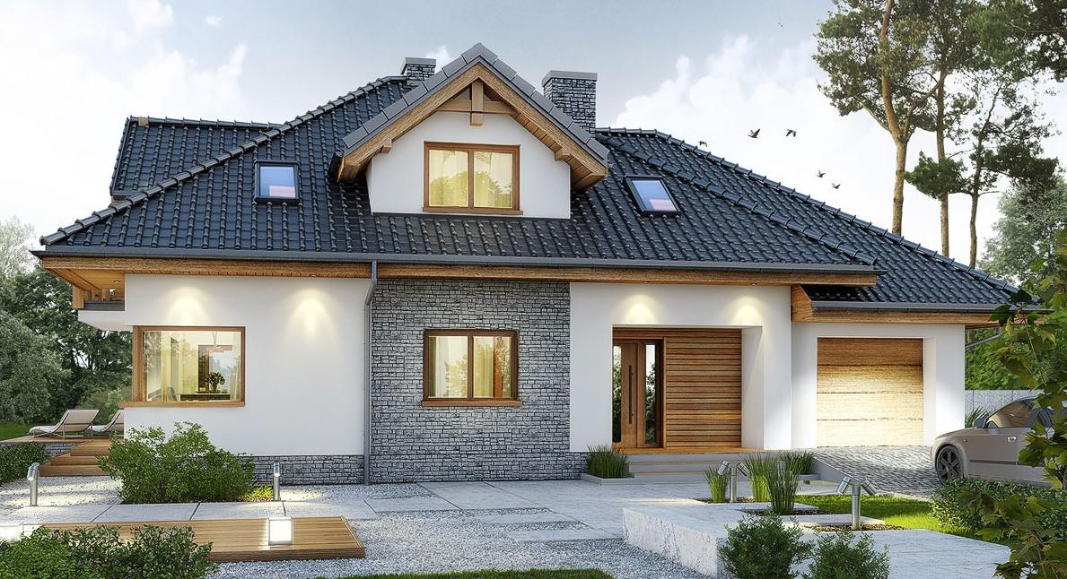 Проект коттеджа 229 кв. м / Артикул бром-91 фасад