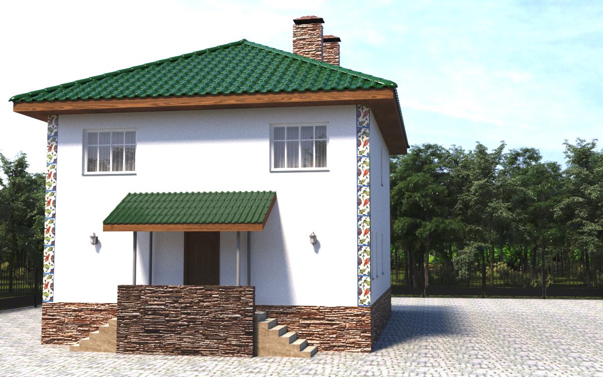 Готовый проект коттеджа 166 м2 / Артикул Вит-95 фасад