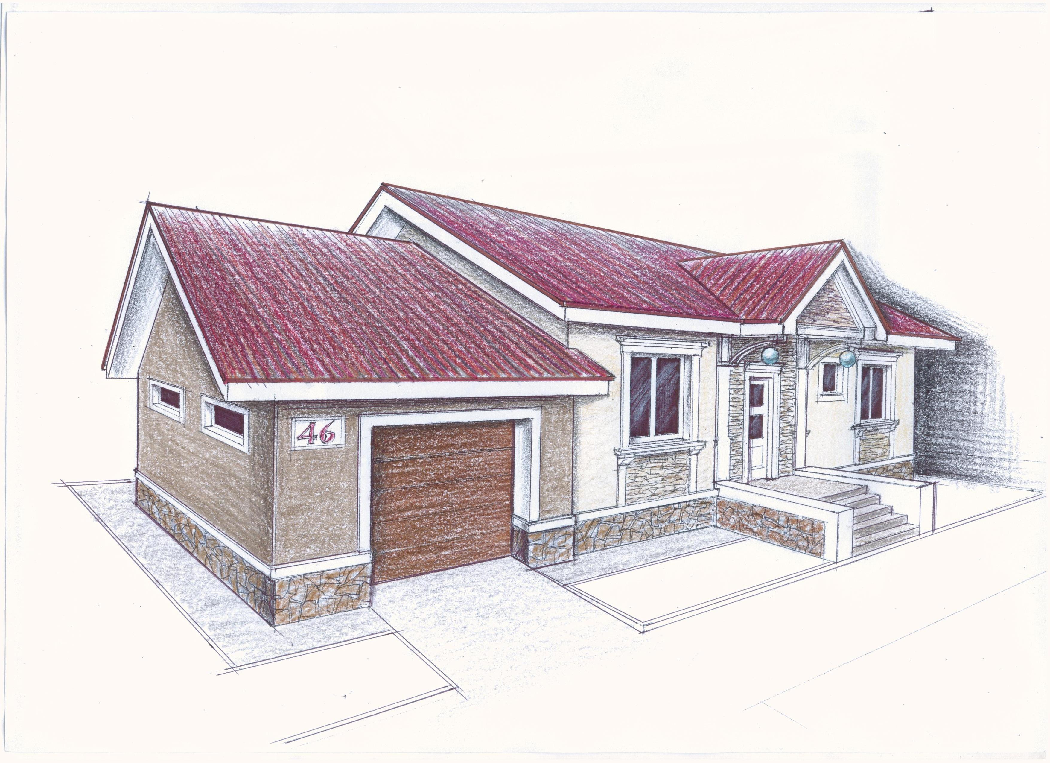 Рабочий проект индивидуального жилого дома фасад