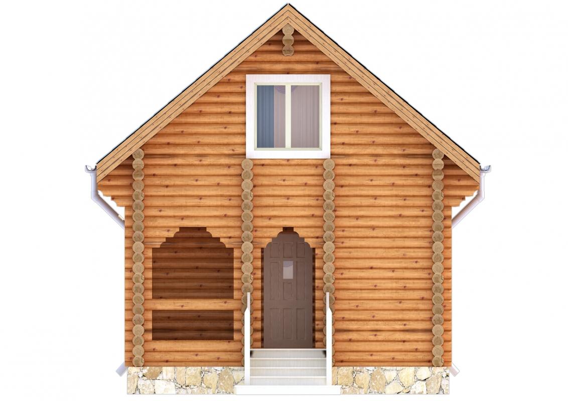 Проект бревенчатого дома AM-2007 фасад