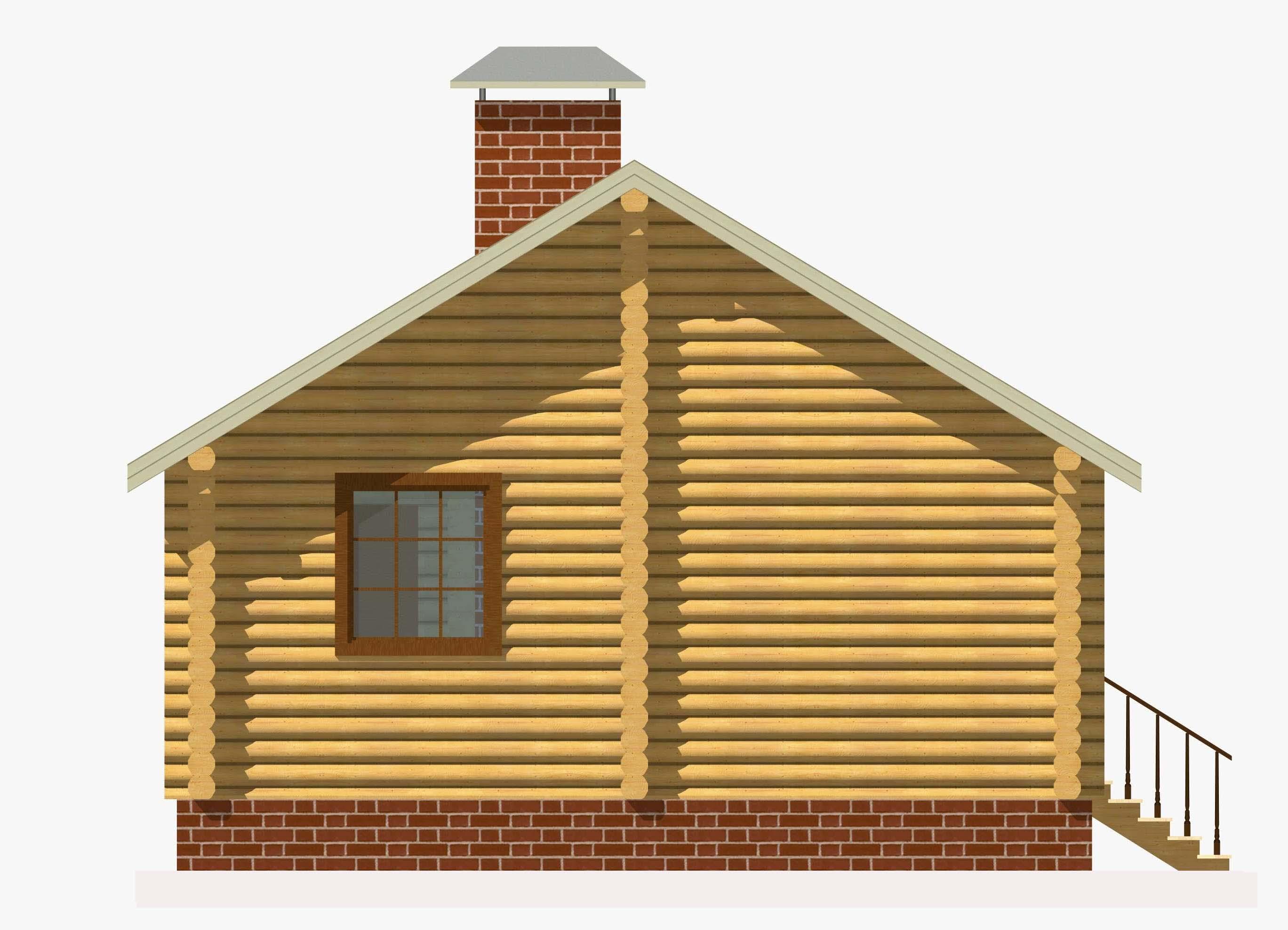 Проект бревенчатого дома AM-2029 фасад