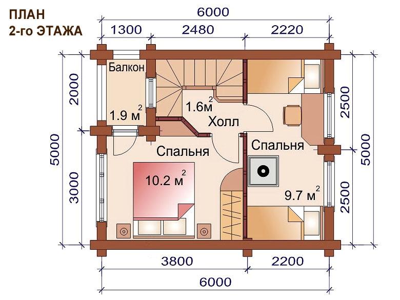 Проект дома-бани AM-2051 план