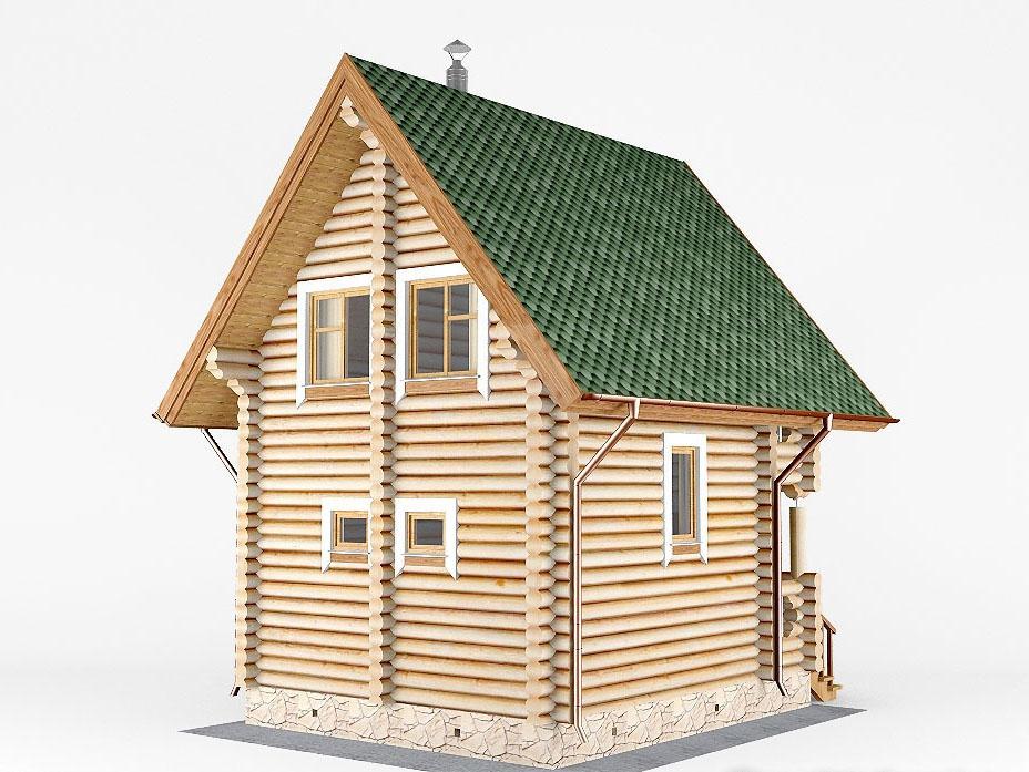 Проект дома-бани AM-2051 фасад