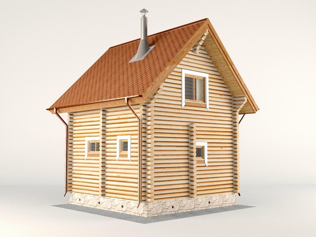 Проект дома-бани AM-2054 фасад