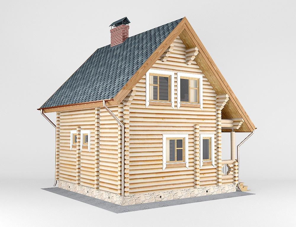 Проект дома-бани AM-2061 фасад