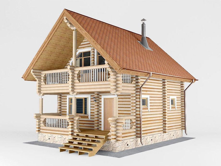 Проект дома-бани AM-2062 фасад