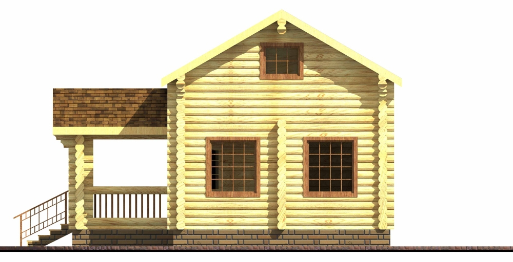 Проект дома-бани AM-2063 фасад