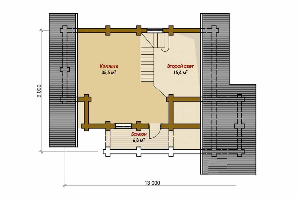Проект дома-бани AM-2065 план