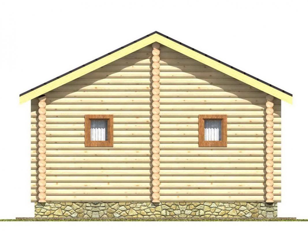 Проект бани AM-2045 фасад