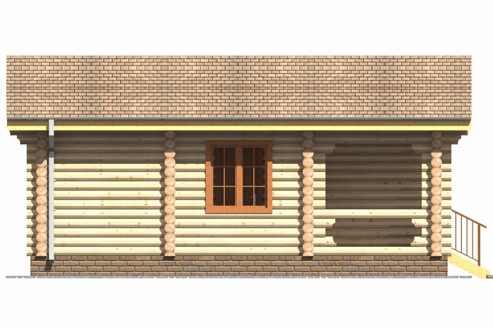 Проект бани AM-2046 фасад