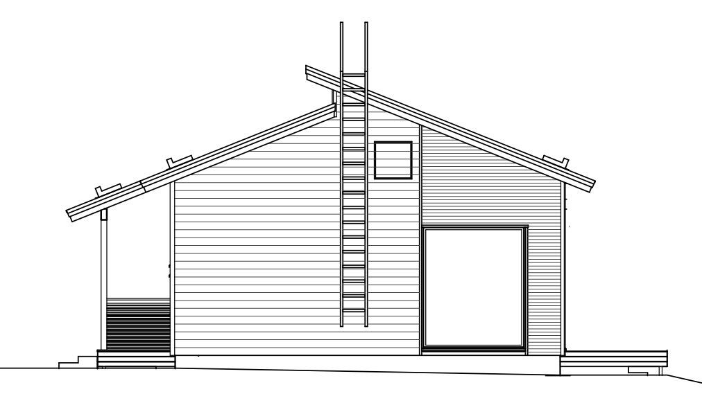 Финский одноэтажный каркасный дом (полный проект!) фасад