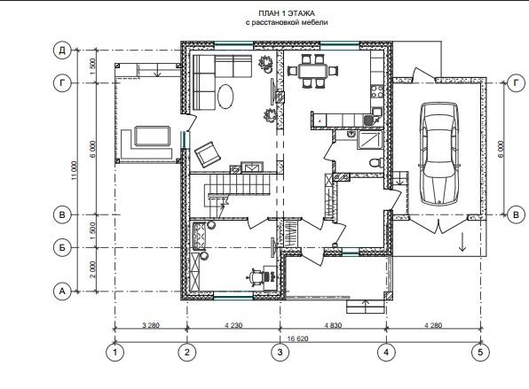 Дом из фибропеноблока план