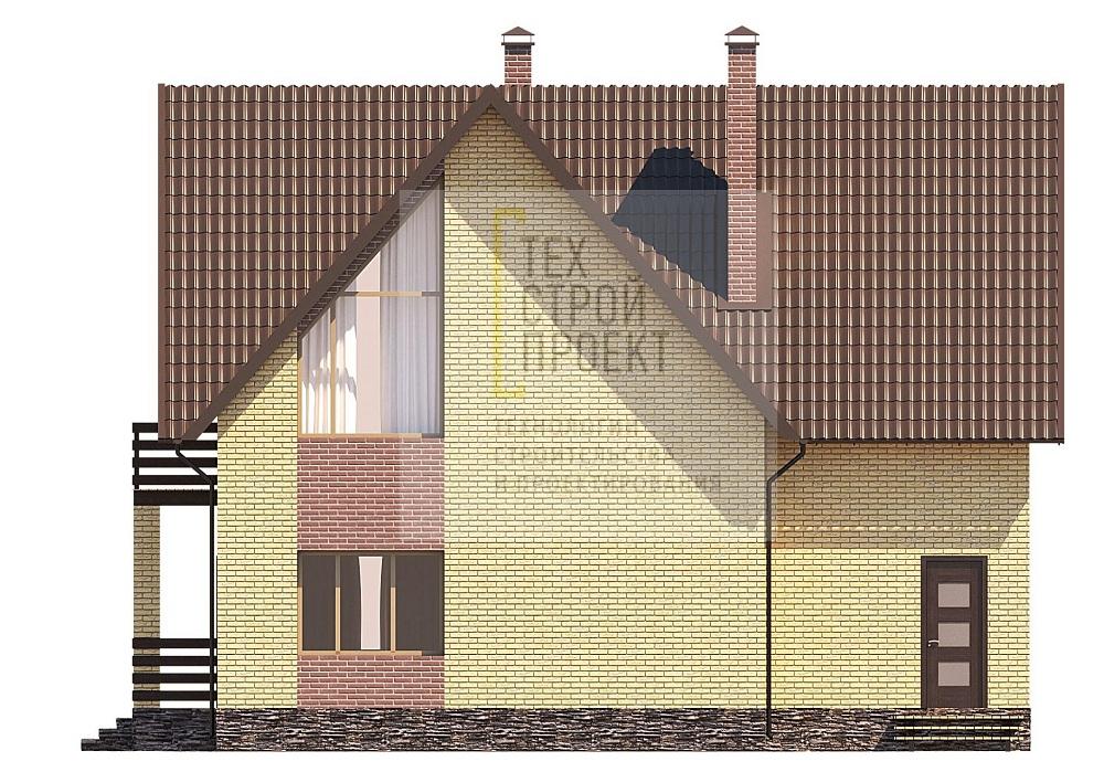 Красивый загородный дом в классическом исполнении фасад