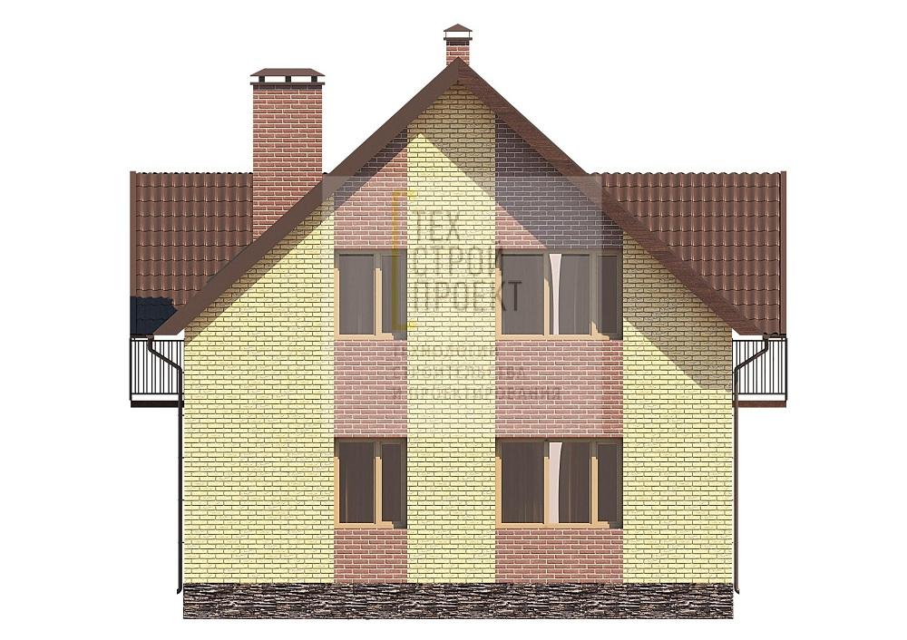 Проект компактного дома для загородного проживания фасад