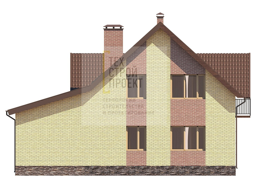 Проект компактного загородного дома фасад