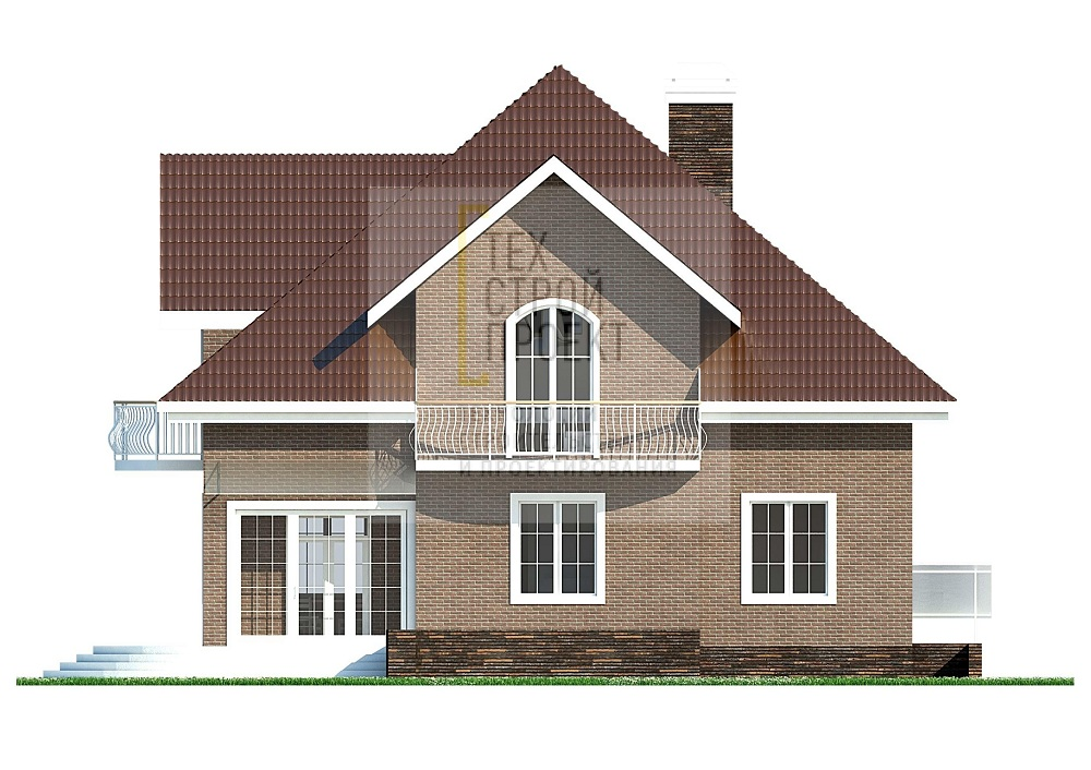 Проект большого аккуратного дома в классическом ст фасад