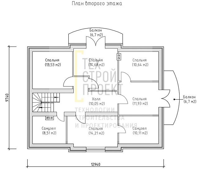 Проект большого аккуратного дома в классическом ст план