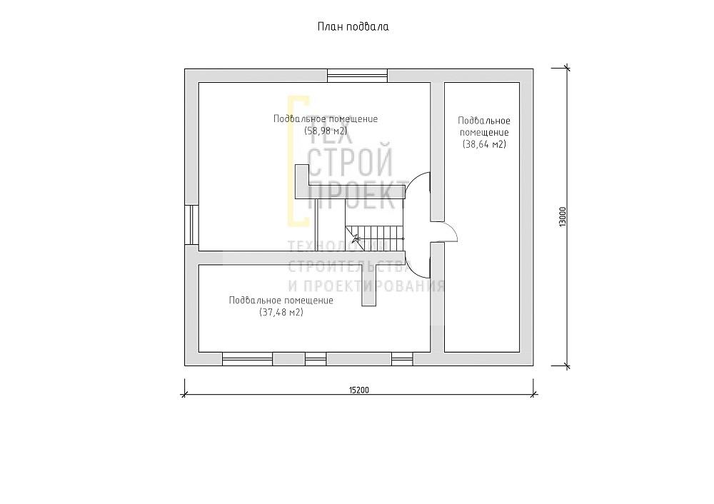 Проект большого двухэтажного дома с цокольным этаж план