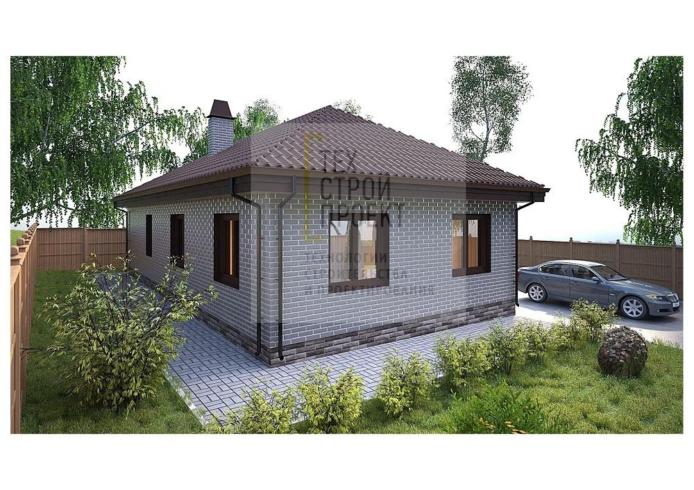 Компактный одноэтажный дом фасад