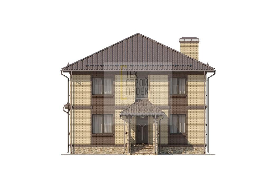 Проект большого двухэтажного дома  фасад