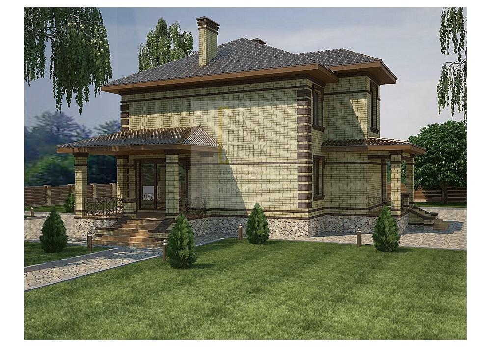 Проект дома для большой семьи фасад