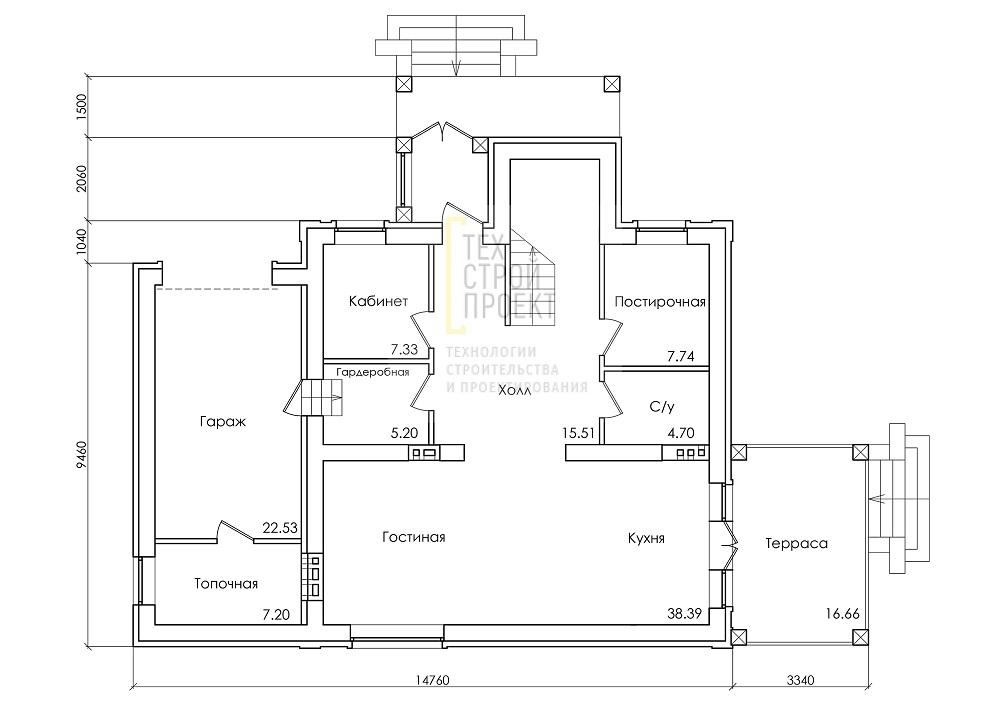 Проект дома для большой семьи план