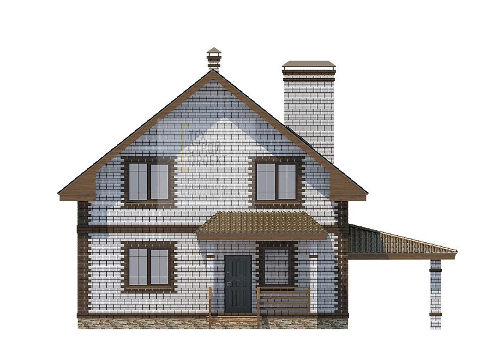 Компактный дом с мансардным этажом фасад