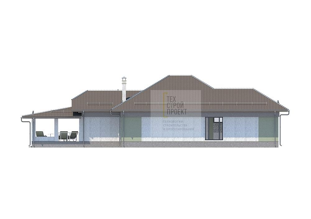 Проект большого загородного дома фасад