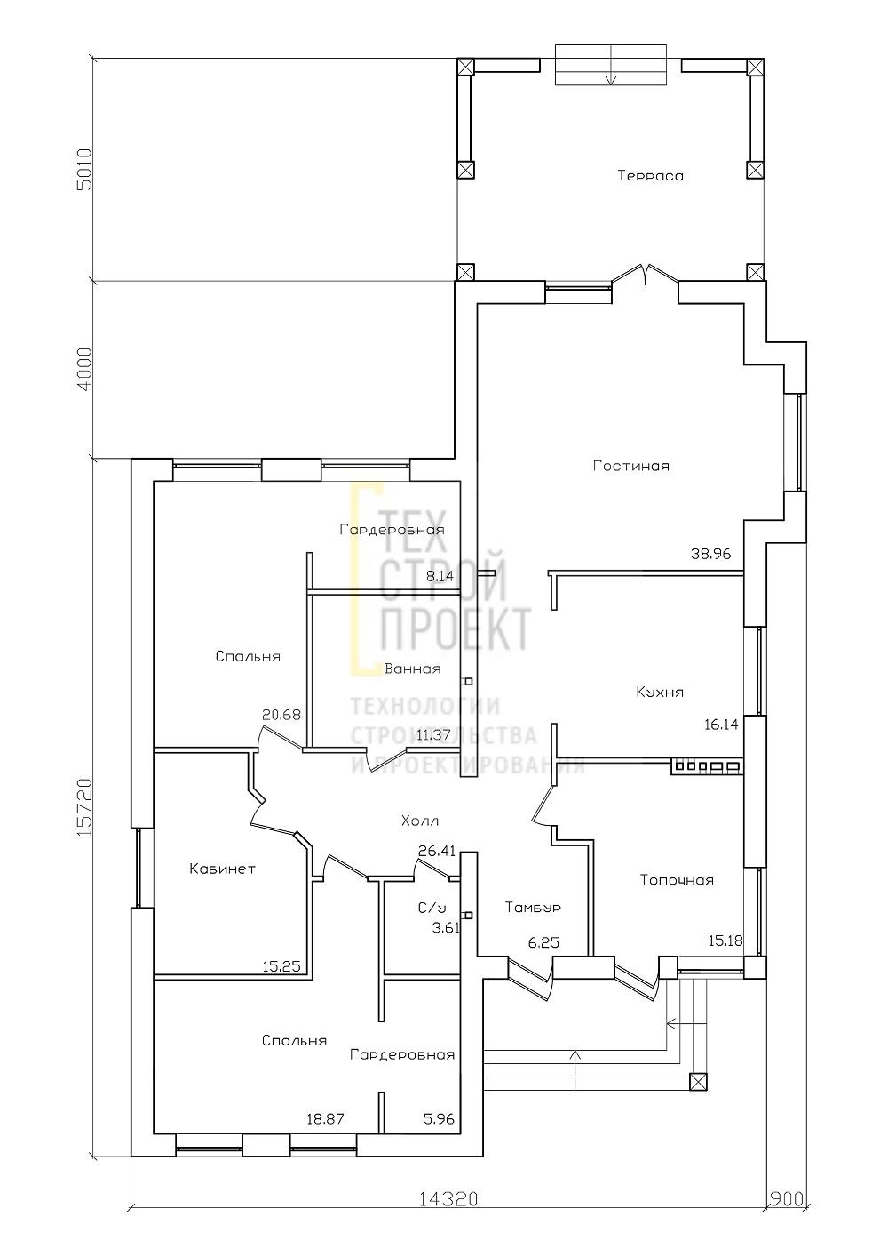 Проект большого загородного дома план