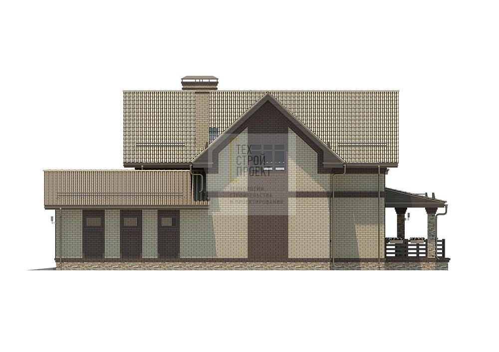 Двухэтажный дом для загородного проживания фасад