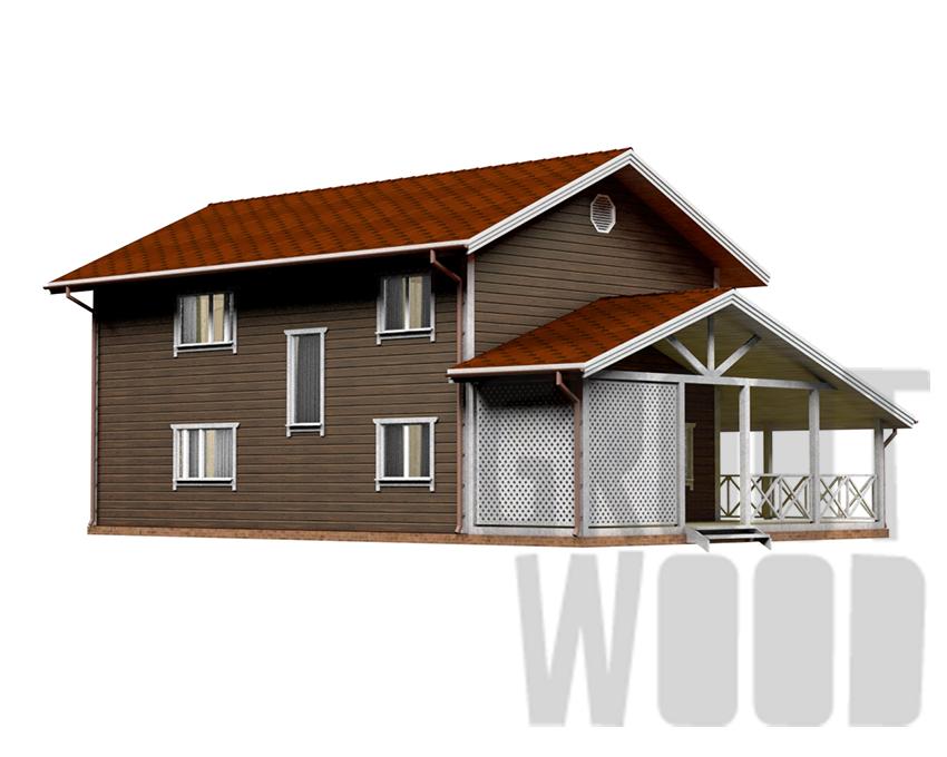 Двухэтажный дом 15 х 10 м, 255 кв. м. фасад