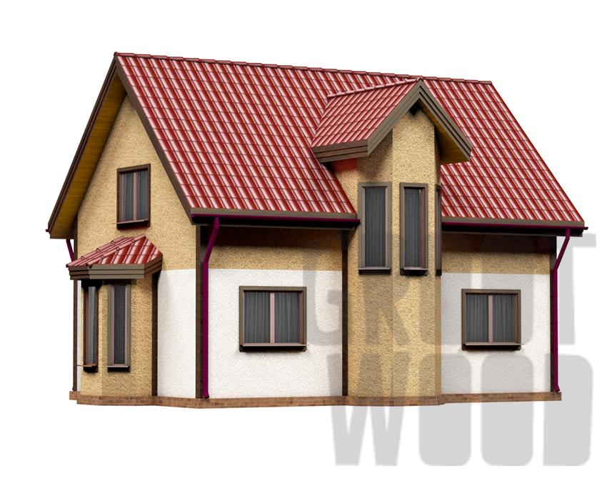 Полутораэтажный дом 9 х 6 м, 127 кв. м. фасад