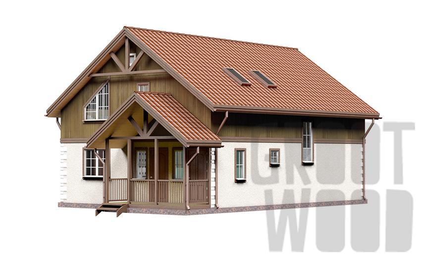 Полутораэтажный дом 11 х 8 м, 217 кв. м. фасад