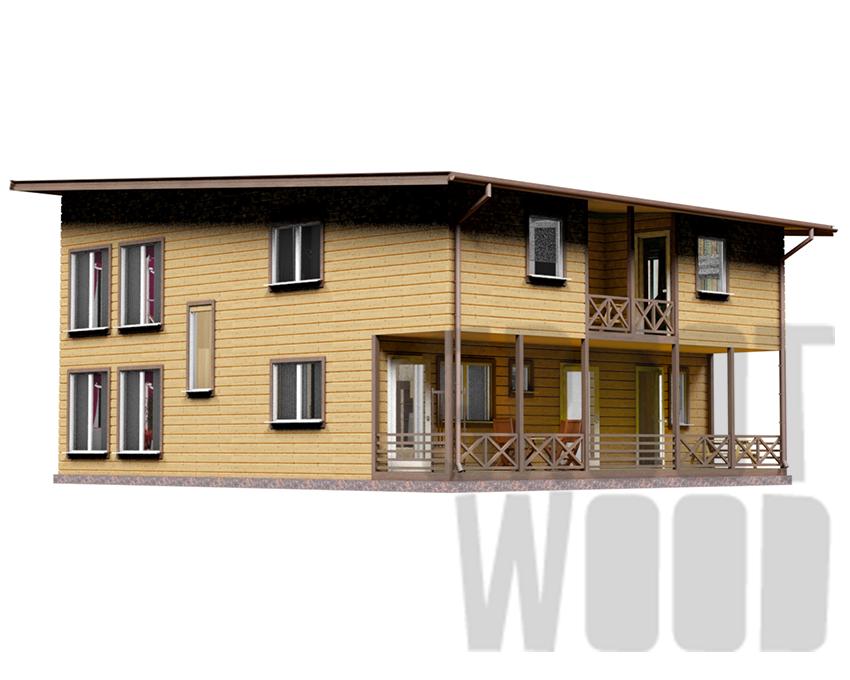 Двухэтажный дом 12 х 10 м, 240 кв. м. фасад