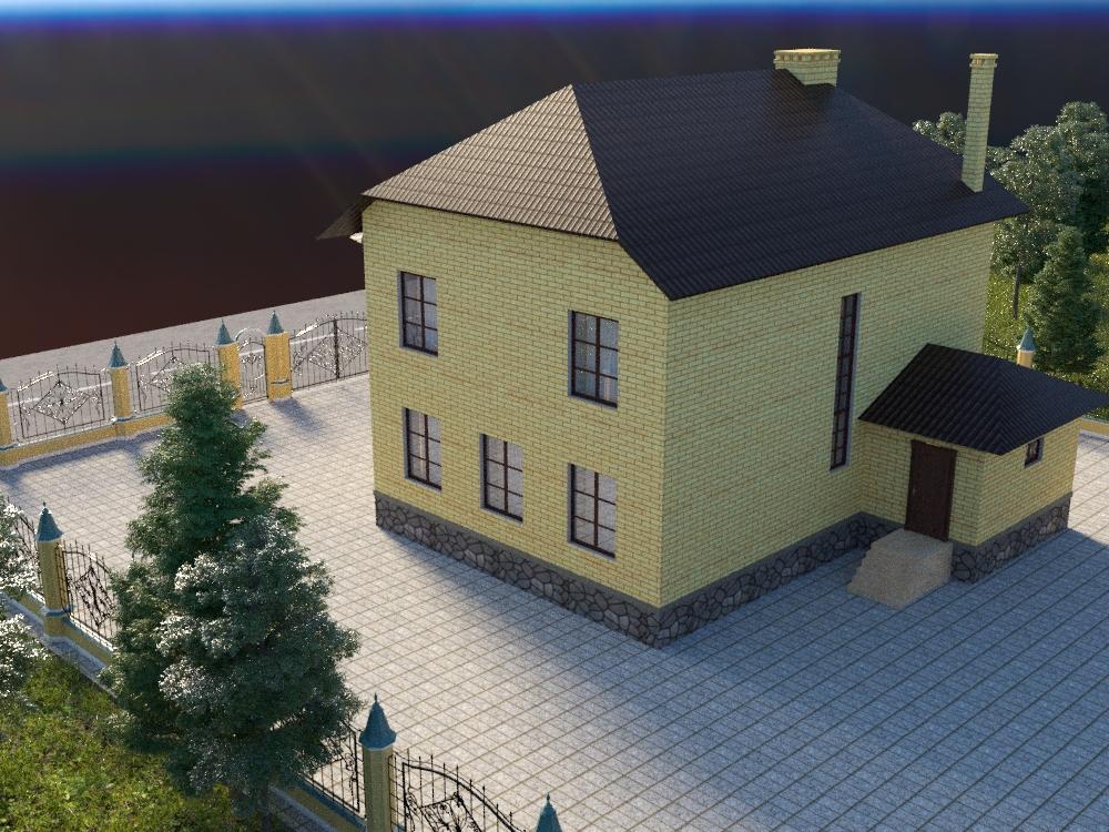 Готовый проект коттеджа 166 кв. м / Артикул С-50 фасад