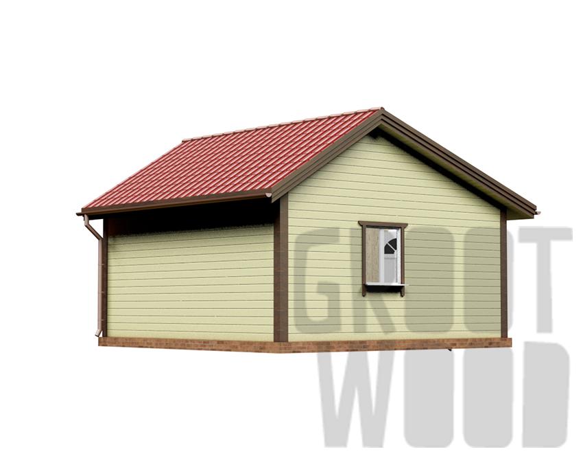 Одноэтажный дом 6 х 6 м, 36 кв. м. фасад