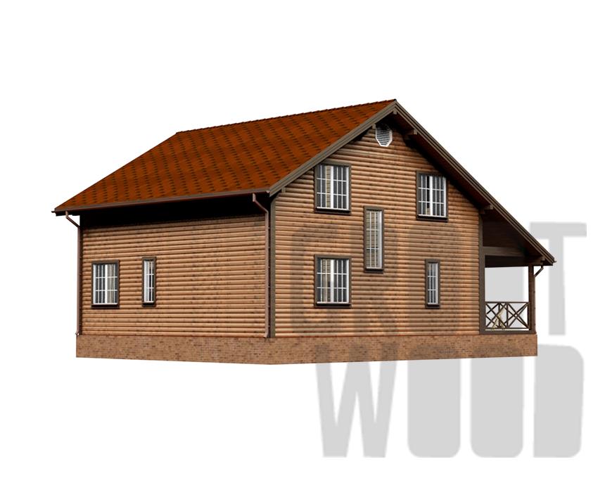 Полутораэтажный дом 15 х 13 м, 273 кв. м. фасад