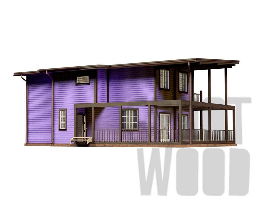 Двухэтажный дом 15 х 9 м, 231 кв. м. фасад