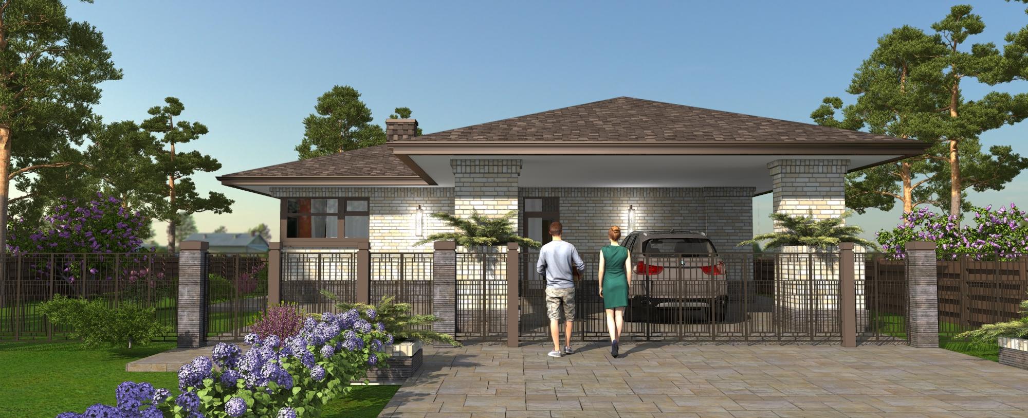 Проект дома - Валдайский - Экоплан фасад