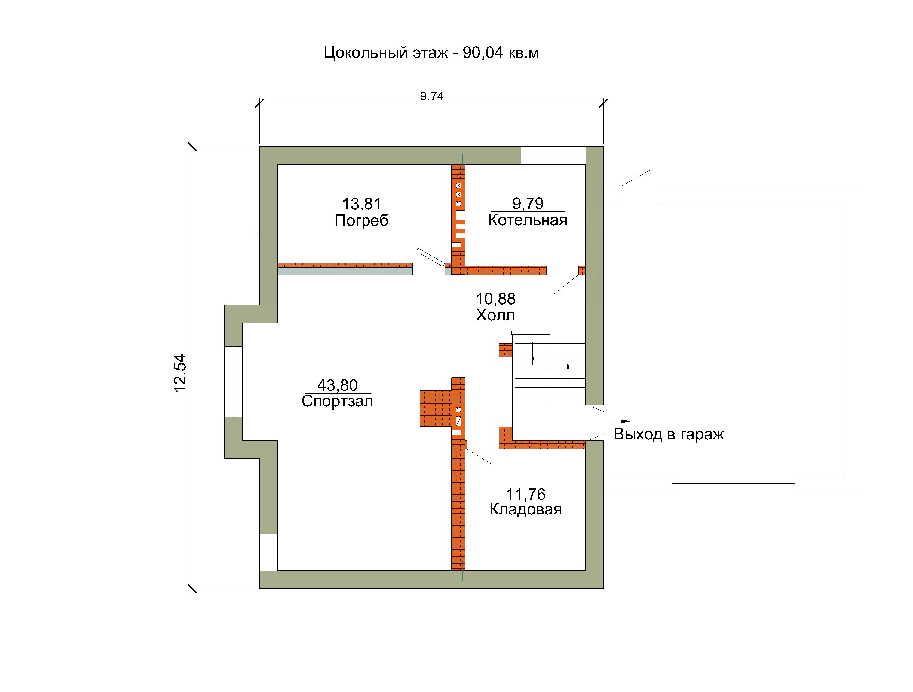 Готовый проект коттеджа 343 м2 / Артикул ОИ-125 план