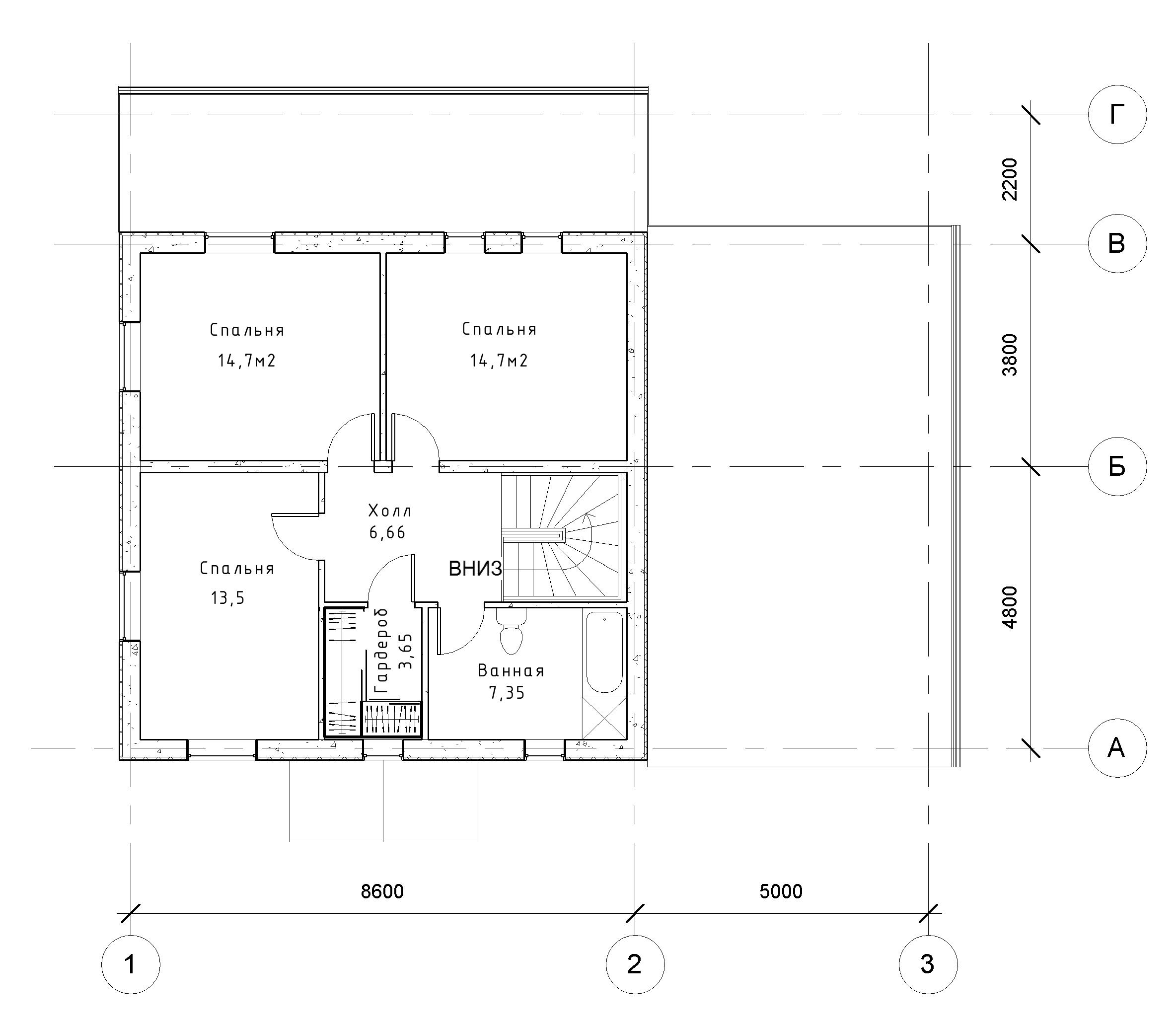Коттедж с гаражом и террасой план