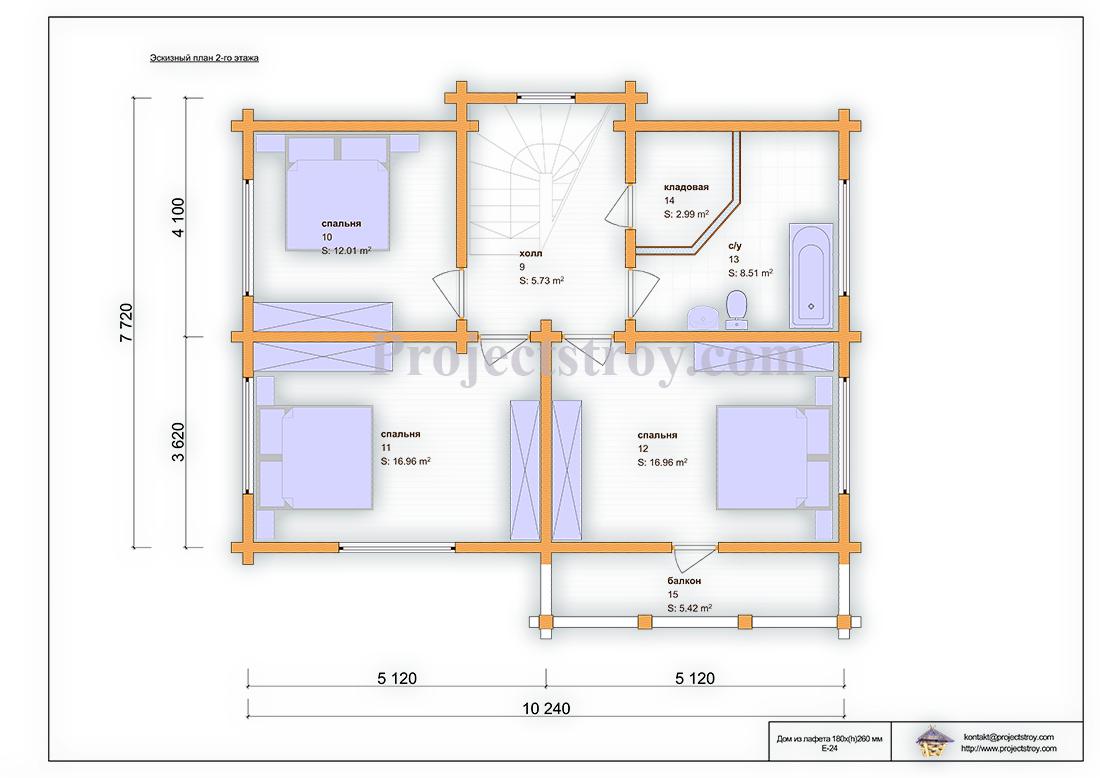Деревянный дом из лафета площадью 140 кв. м план