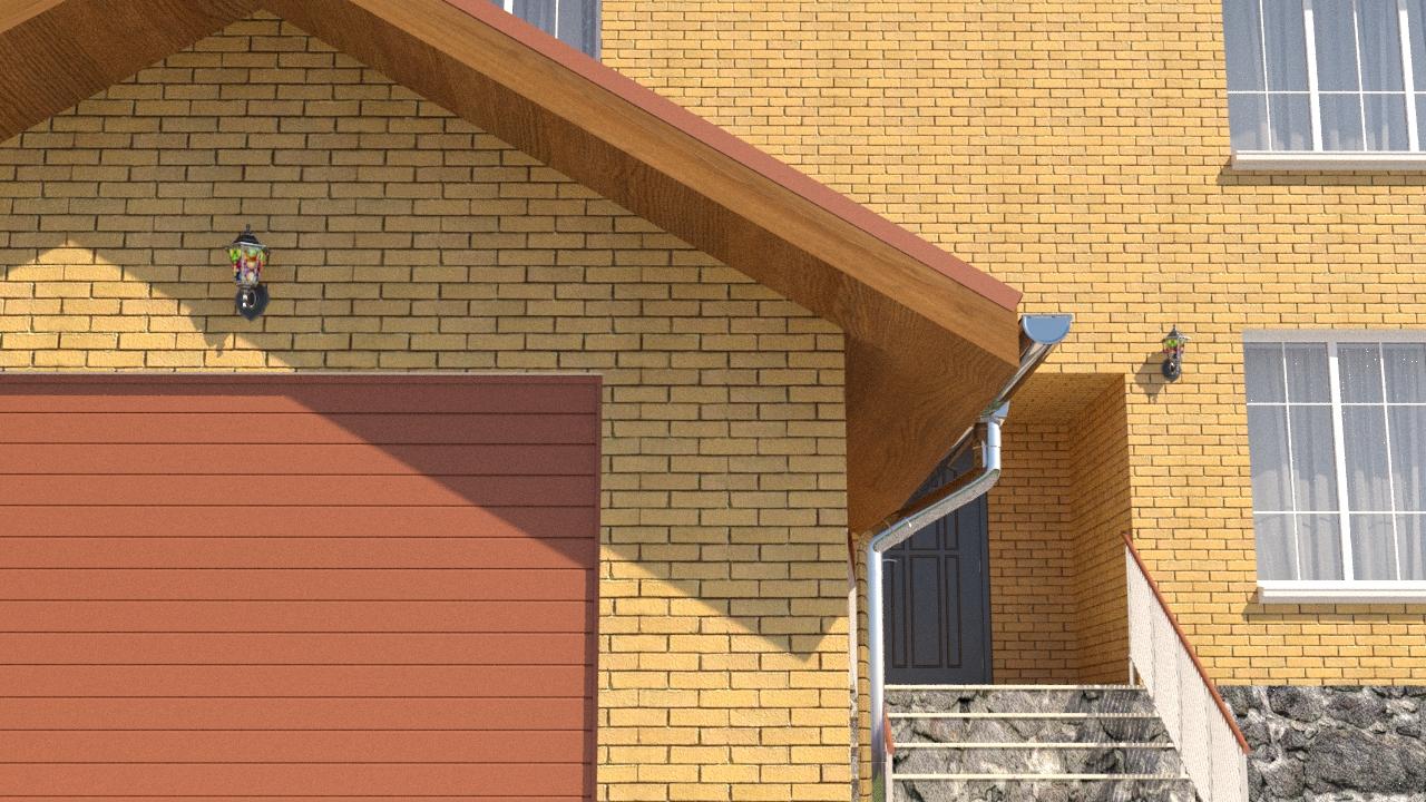 Готовый проект коттеджа 286 кв. м / Артикул LA-127 фасад