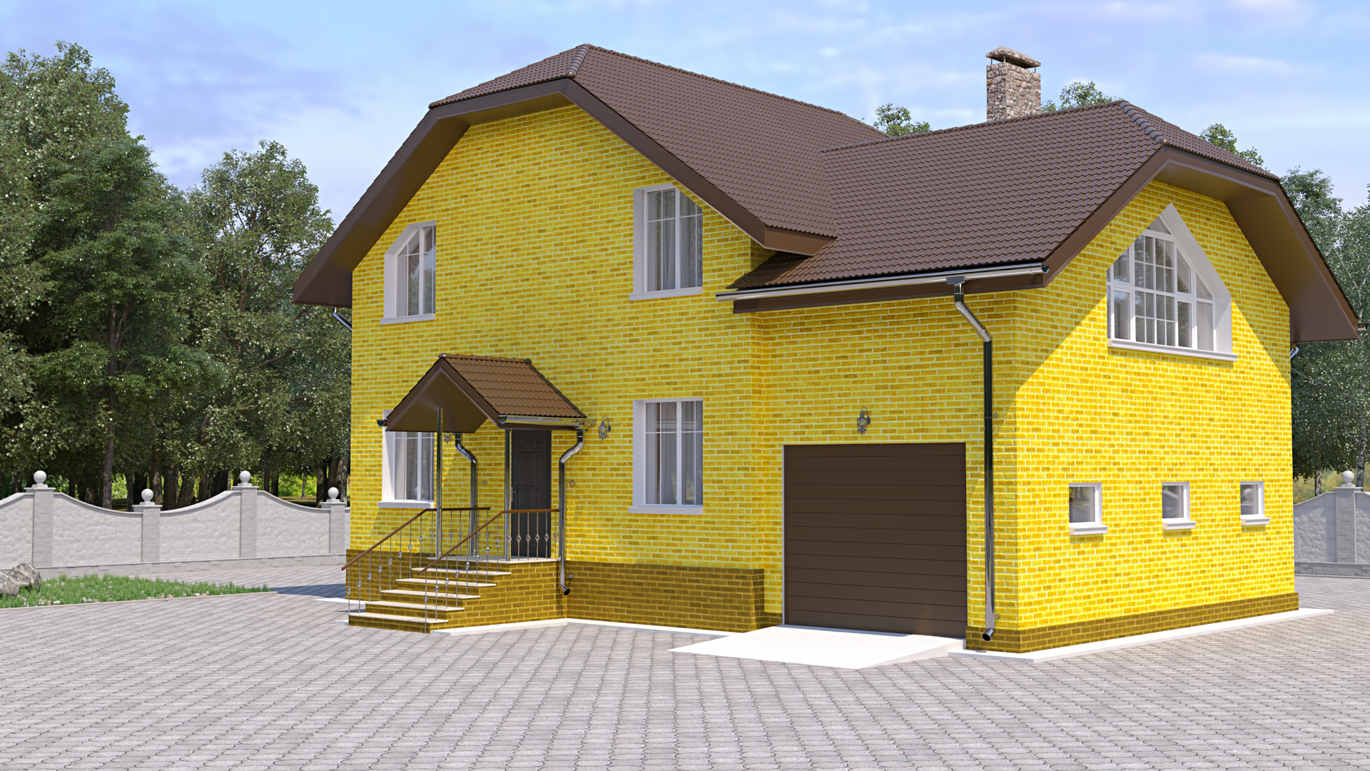 Проекты домов и коттеджей из пеноблоков, пенобетона