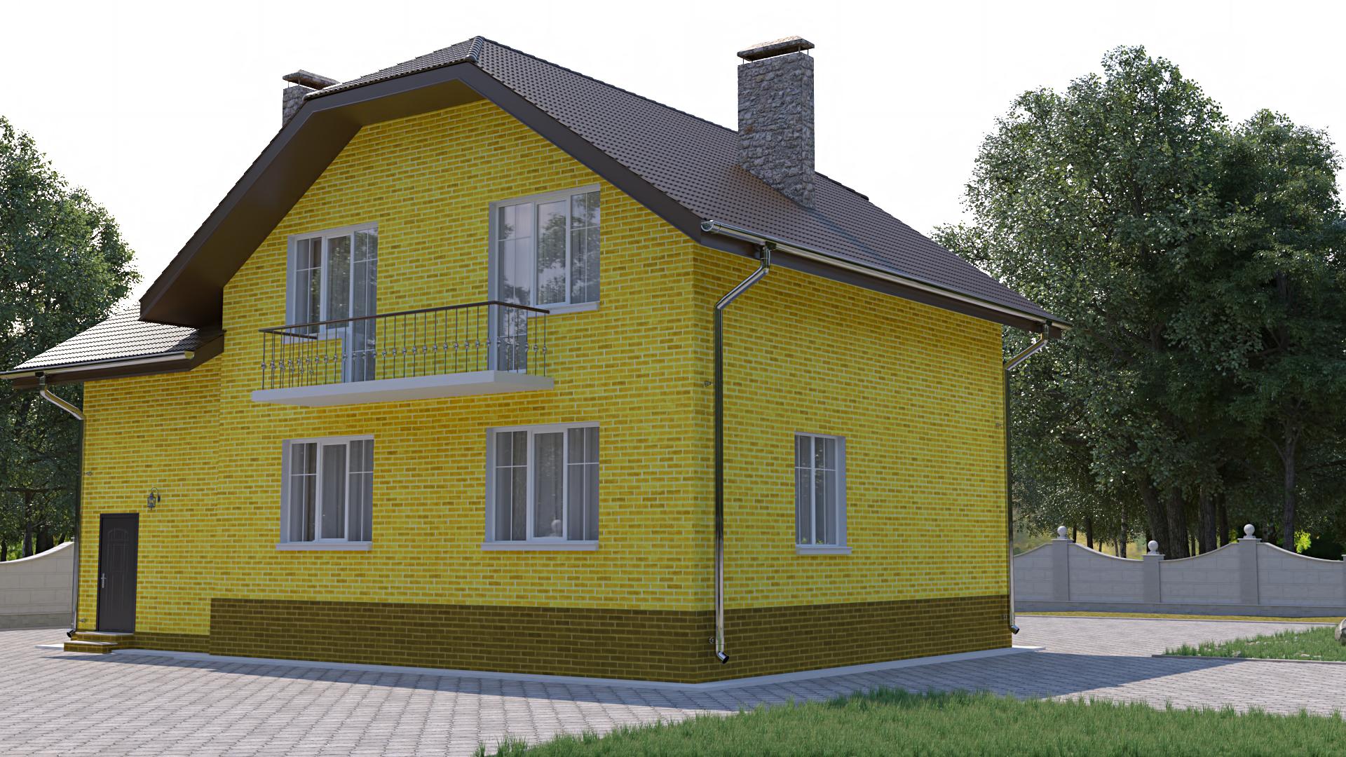 Готовый проект коттеджа 140 кв. м / Артикул ЦЕ-126 фасад