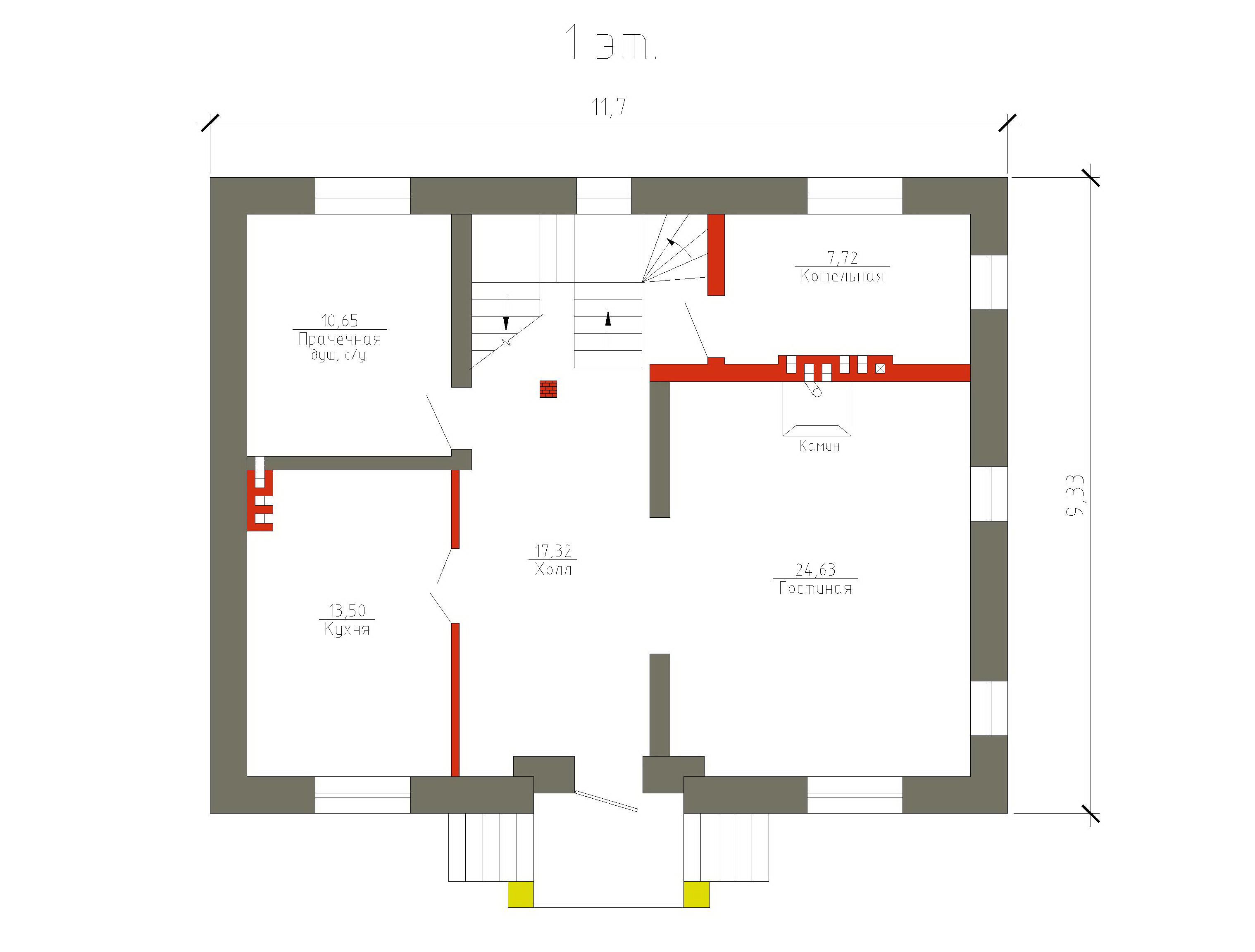 Готовый проект коттеджа 144 кв. м / Артикул М-31 план