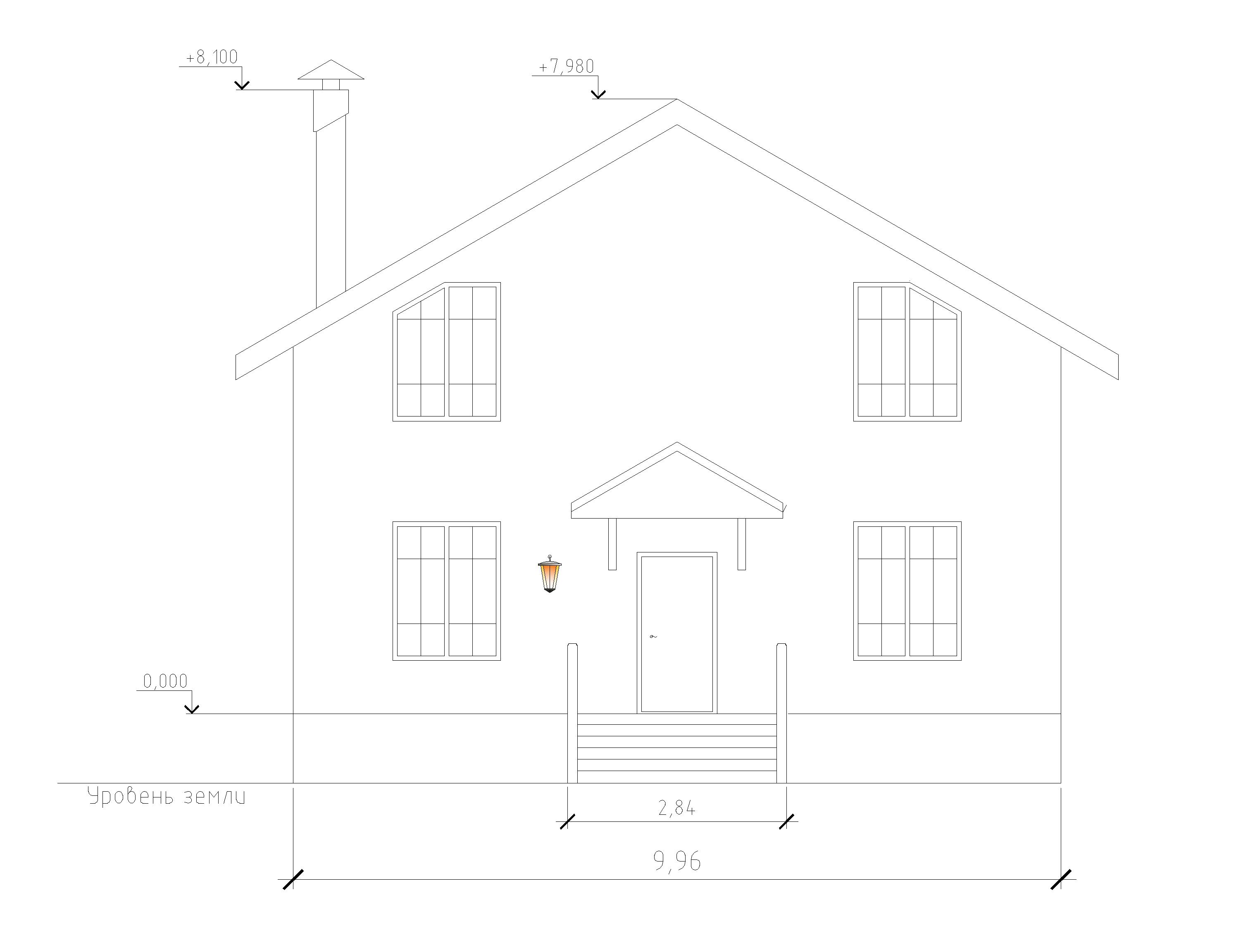 5 Готовый проект коттеджа 125 м2 / Артикул Э-56 фасад